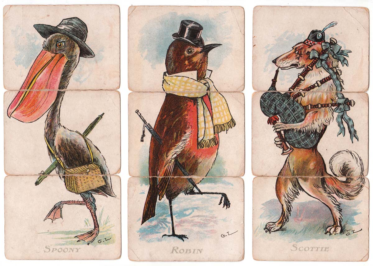Animal Misfitz designed by George Lambert.for Faulkner Games, c.1900