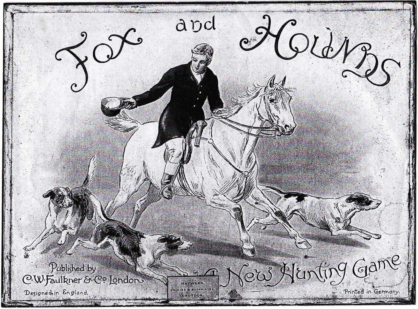 Fox & Hounds card game published by C.W. Faulkner & Co., c.1899