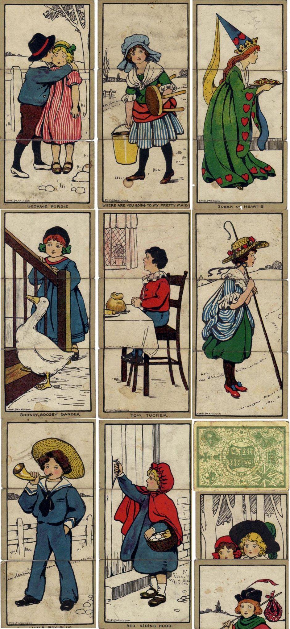 "C. W. Faulkner's ""Little Folk Misfitz"" illustrated by Ethel Parkinson, c.1910"