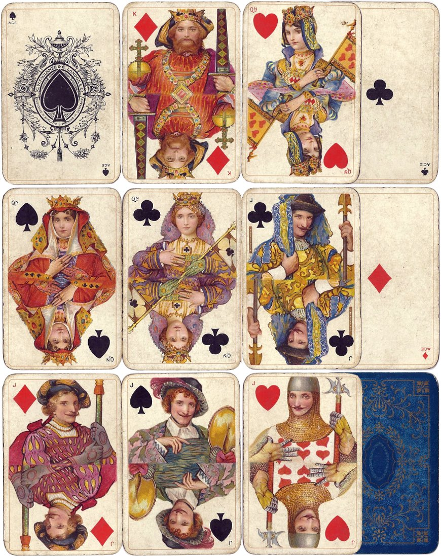 Dondorf's Whist No.192 / Shakespeare Playing Cards published by C.W. Falkner, London, c.1906