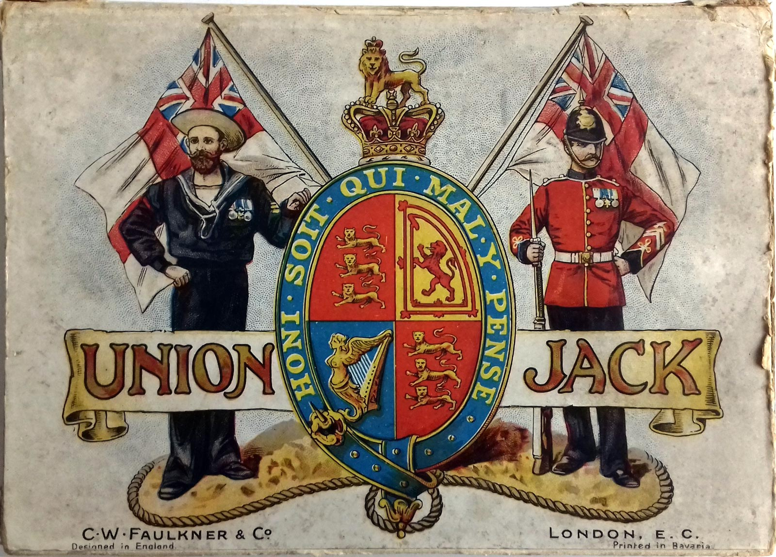 Union Jack card game published by C.W. Faulkner & Co., c.1897