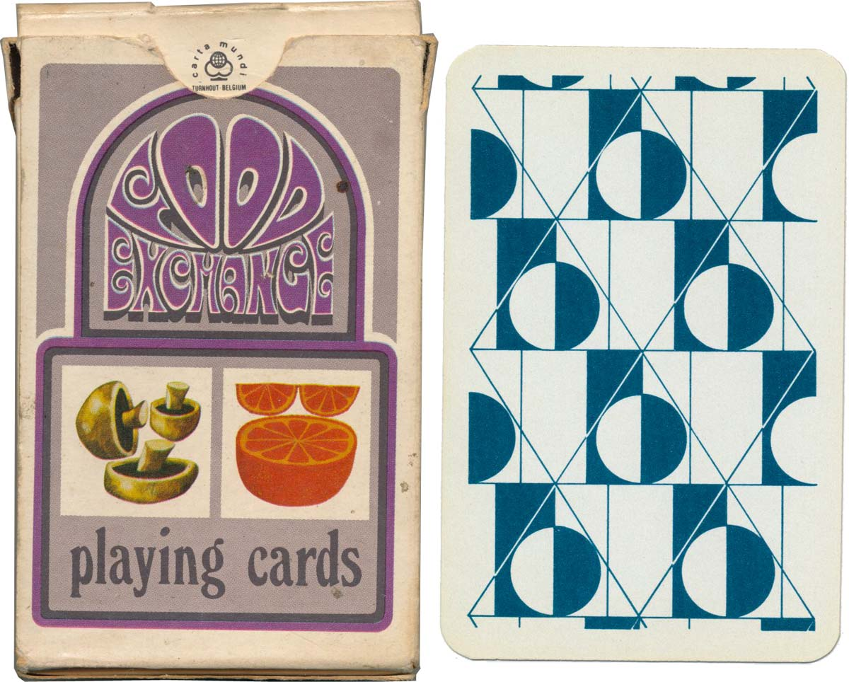 """Food Exchange"" playing cards designed by Ralph Dobson for the British Diabetic Association, 1973"