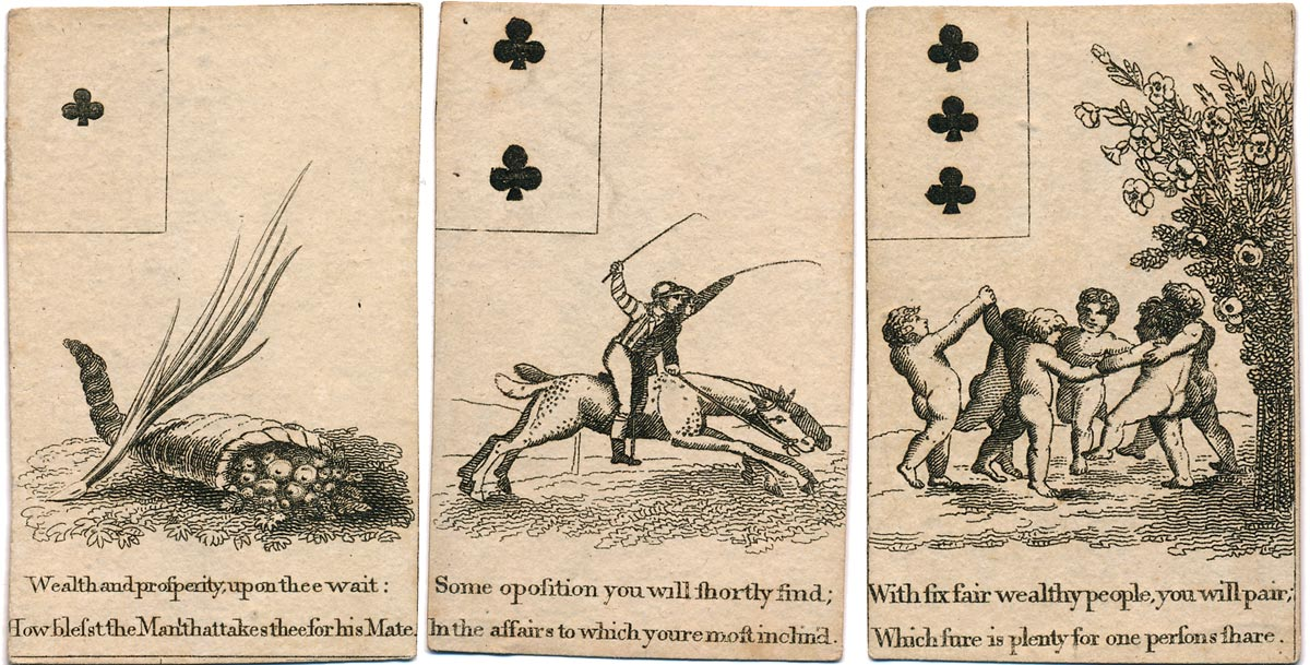 Georgian Fortune Telling Cards, c.1800