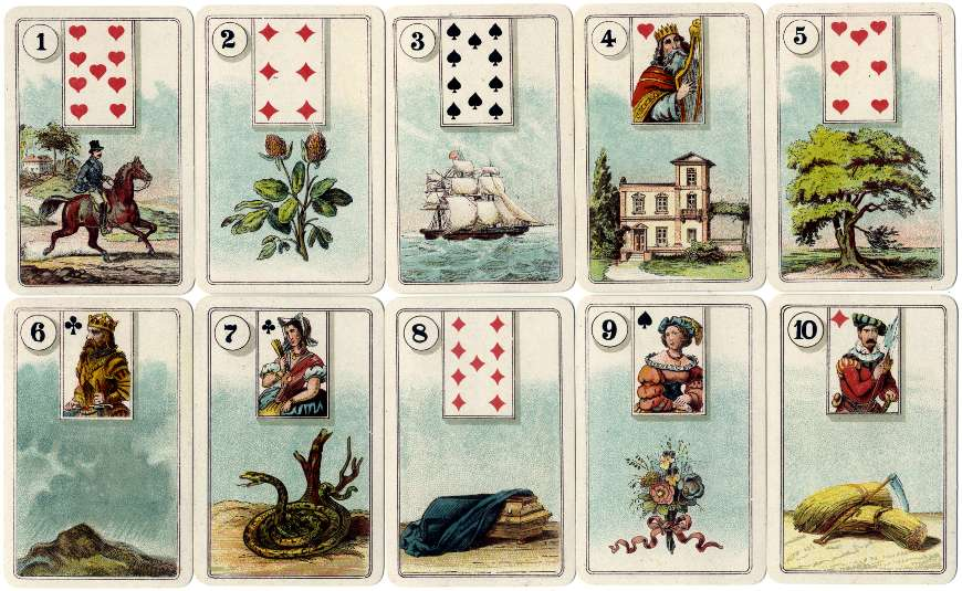 Cartes Lenormand by H.P. Gibson & Sons Ltd., 1920s
