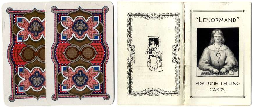 Back and rule leaflet from Cartes Lenormand by H.P. Gibson & Sons Ltd., 1920s