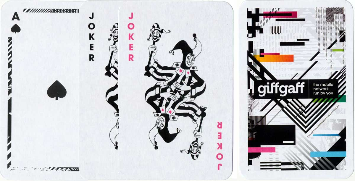 Giffgaff mobile network playing cards, 2015