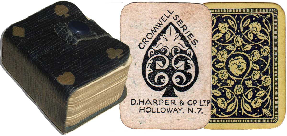 Cromwell Series miniature playing cards published by D. Harper & Co. Ltd, c.1920s