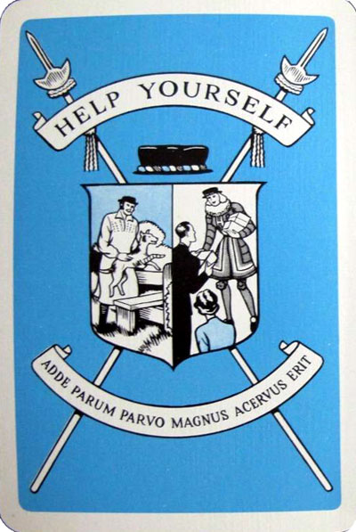 "pack specially made for the ""Help Yourself"" Society by Thomas de la Rue & Co Ltd"