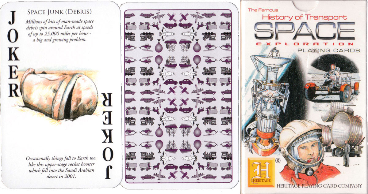 History of Transport 'Space Exploration' playing cards published by Heritage Playing Card Co., 2013