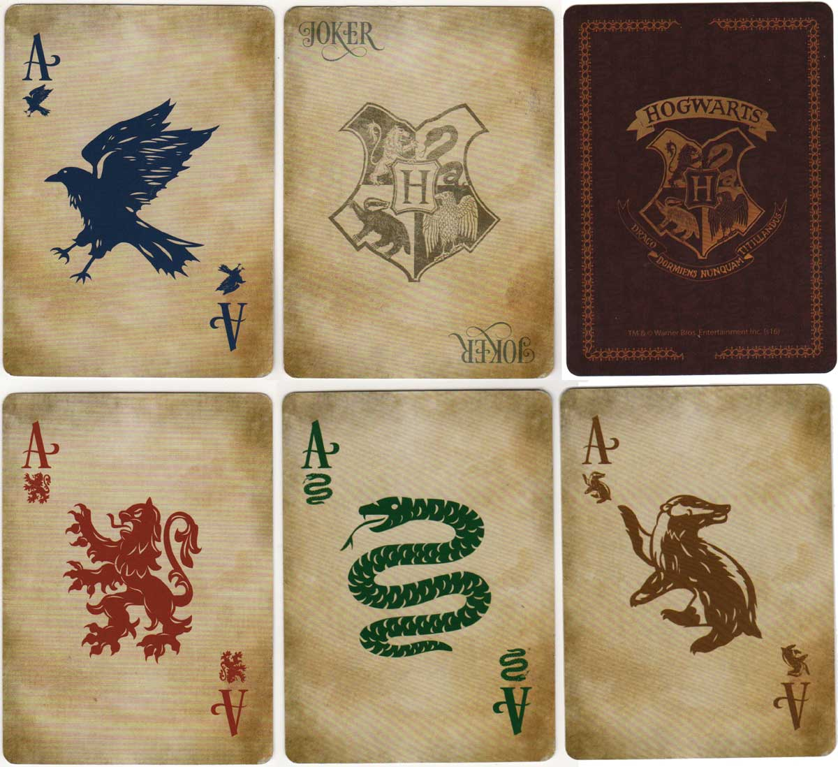 Hogwarts Playing Cards, c.2016