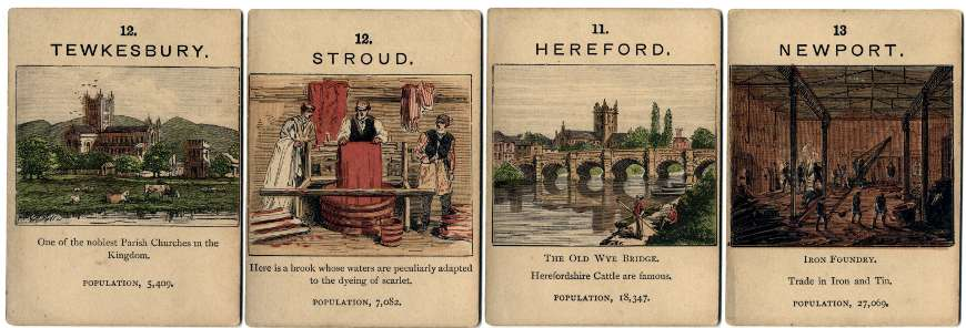 Jaques' Counties of England card game, c.1880