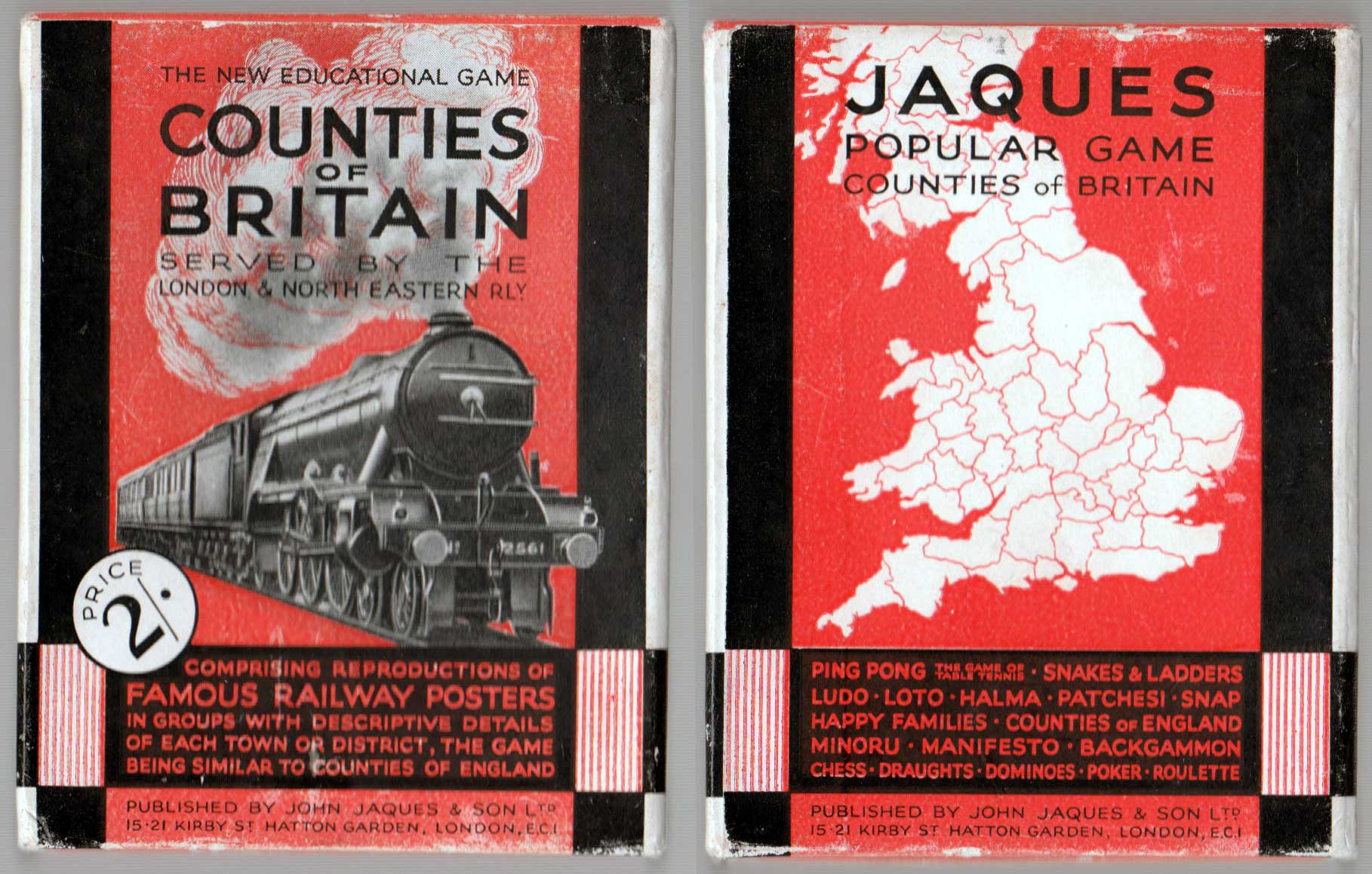 Counties of Britain by John Jaques & Son Ltd. c.1930