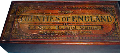 Jaques' Counties of England box, c.1880