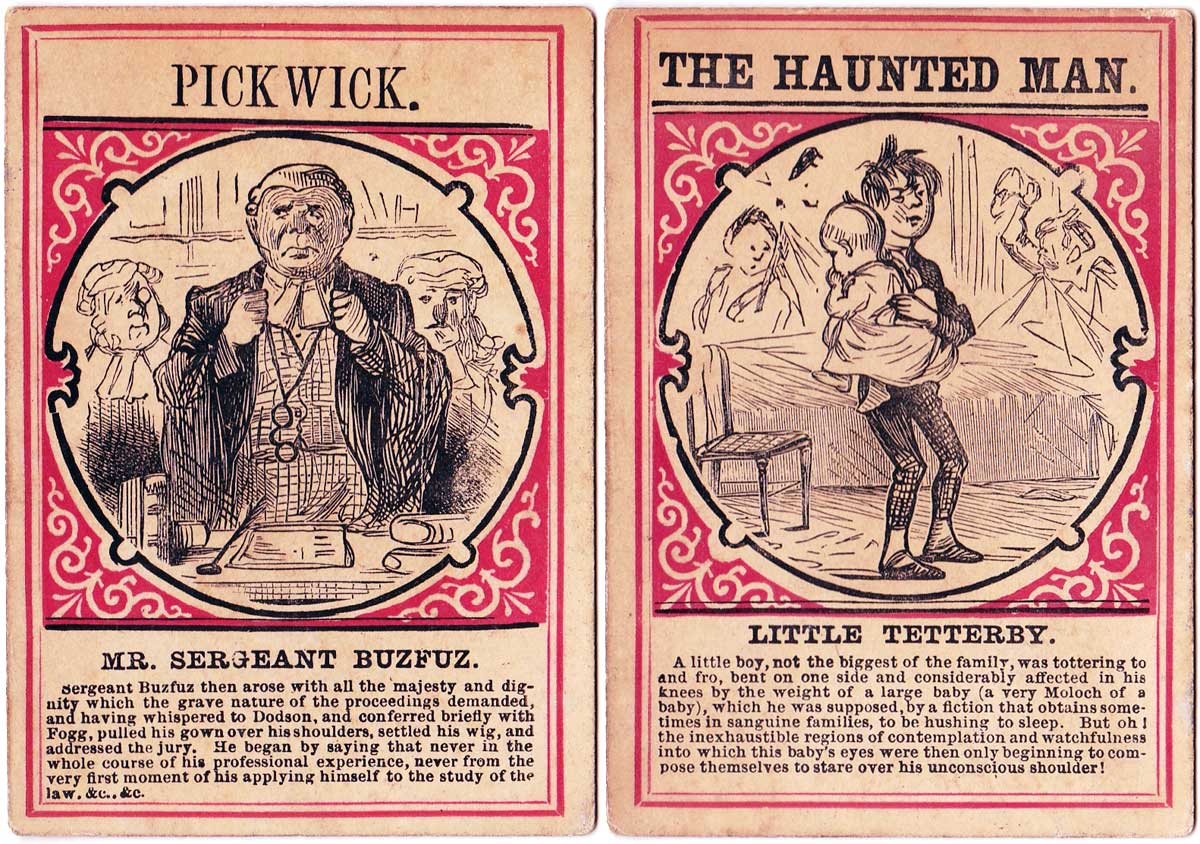 """""""Characters from Charles Dickens"""" card game published by Jaques & Son, c.1880"""
