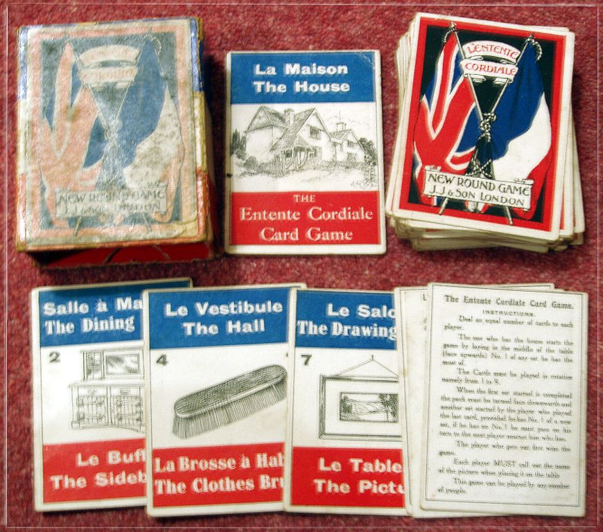 Jaques' The Entente Cordiale Card Game, c.1905