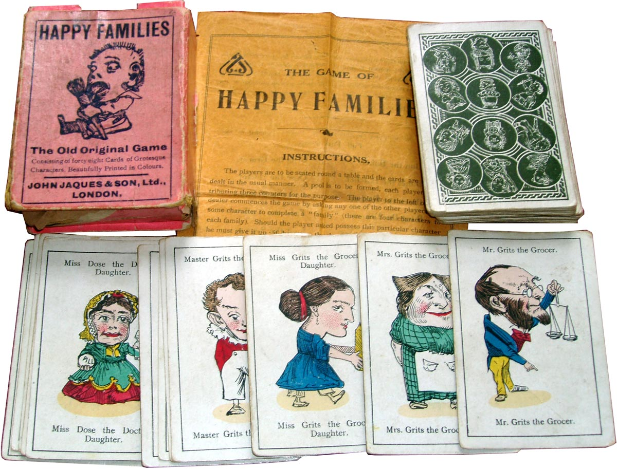1910 edition of Happy Families published by John Jaques & Son, London