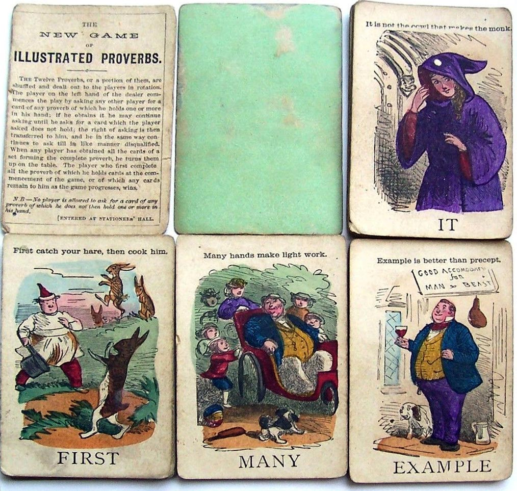 Jaques' Illustrated Proverbs, c.1870