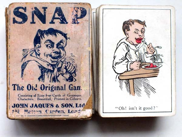 box from Jaques & Son Snap card game, c.1905 edition