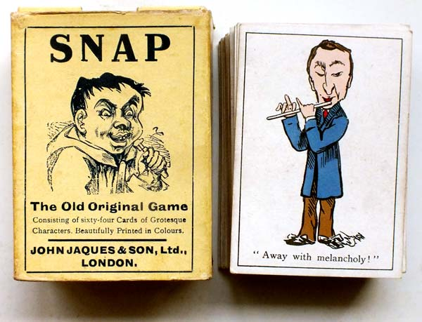 box from Jaques & Son Snap card game, c.1910 edition