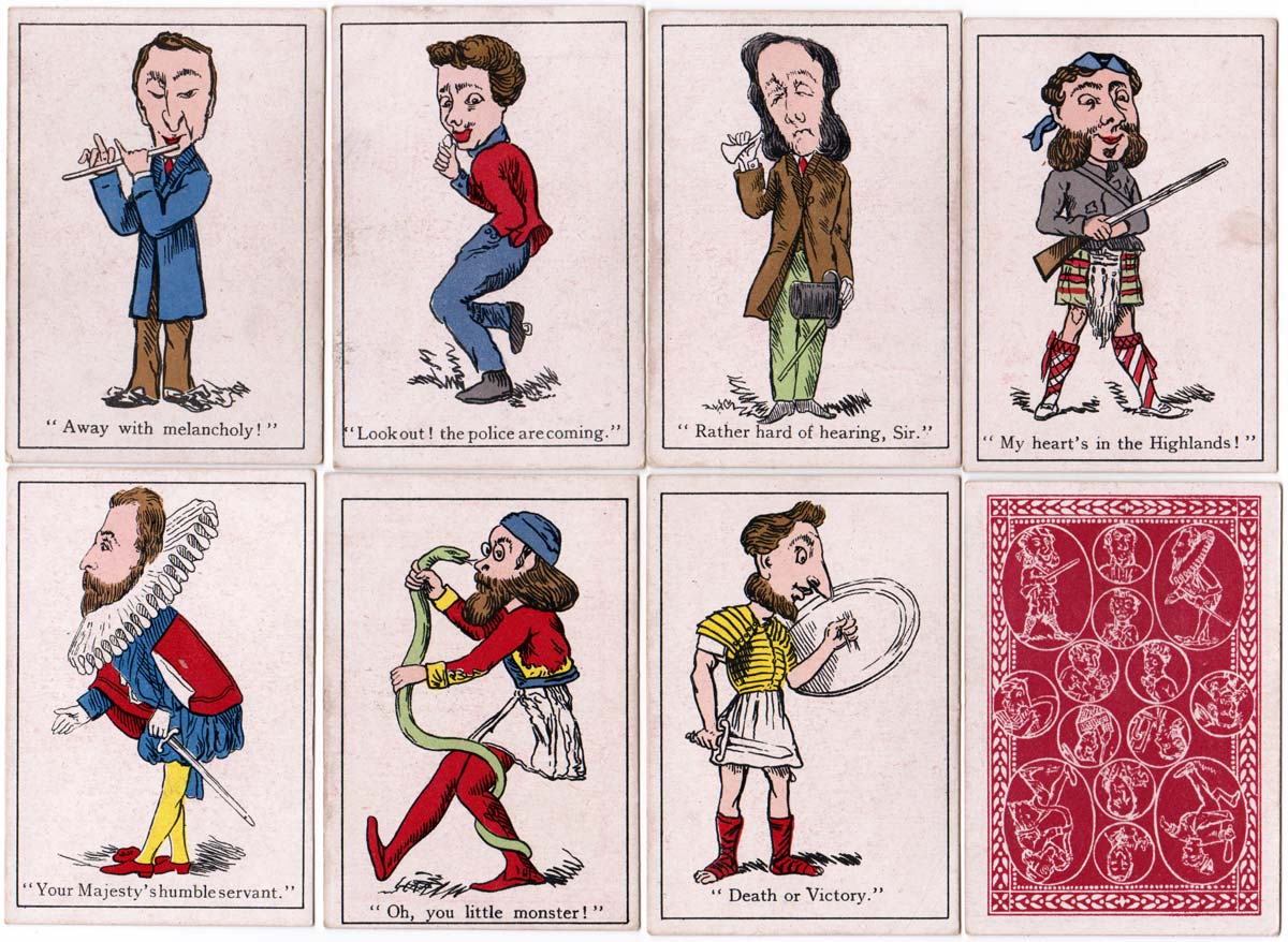 cards and back from Jaques & Son Snap card game, c.1910 edition