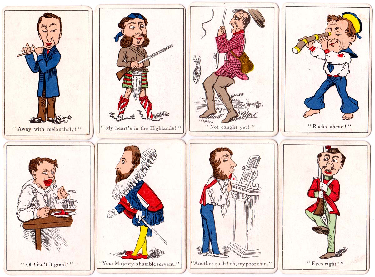 cards and back from Jaques & Son Snap card game, c.1920 edition