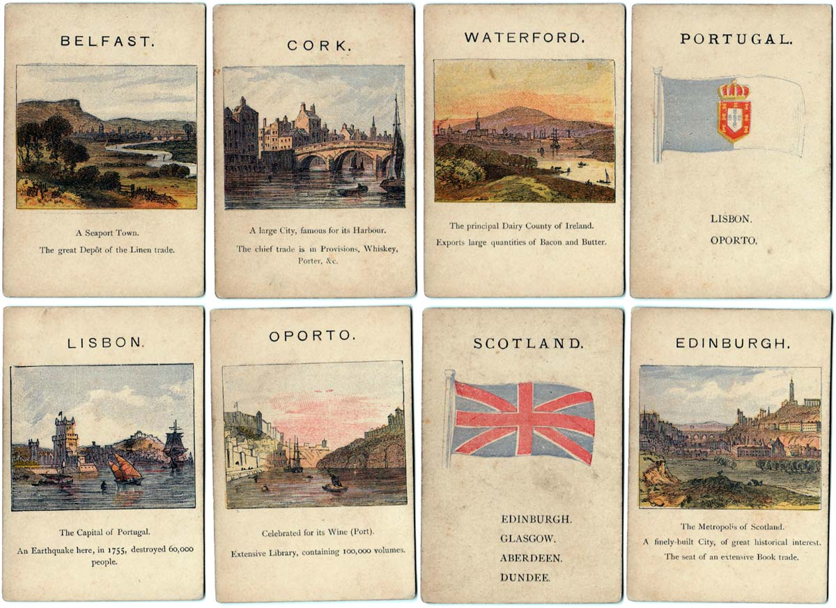 Kingdoms of Europe card game, c.1885