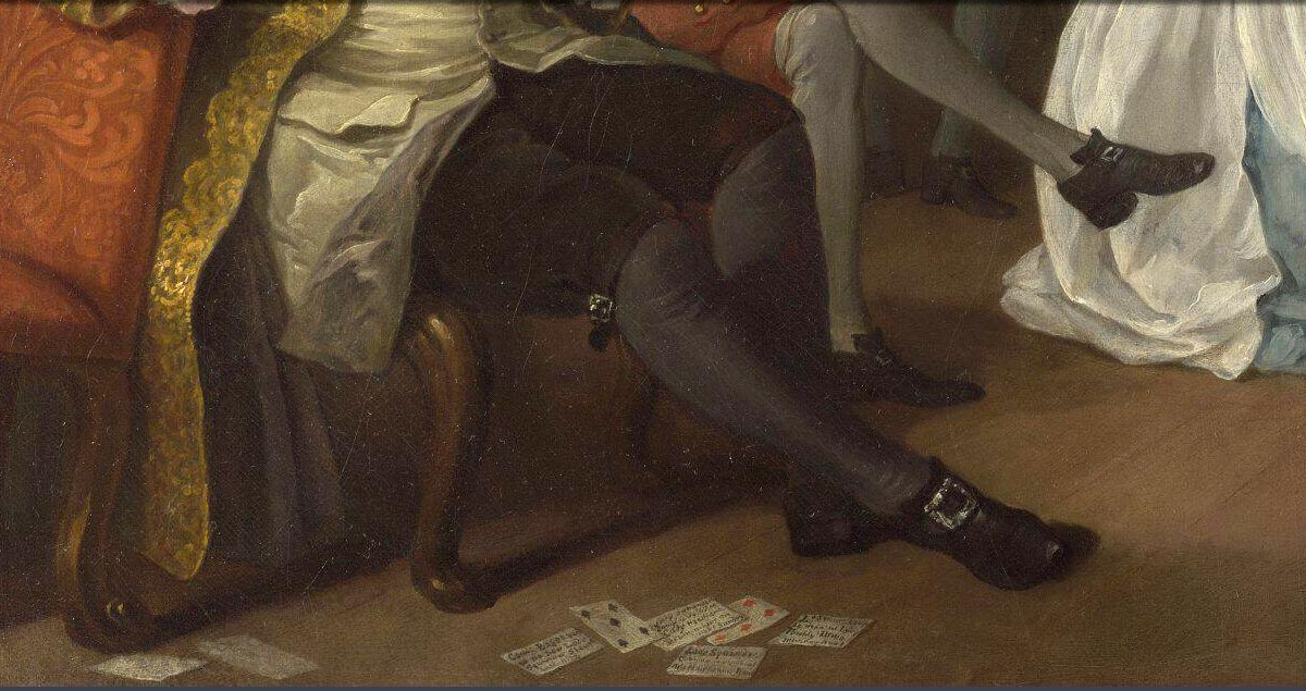 detail from Marriage A-la-Mode: 4, The Toilette by William Hogarth