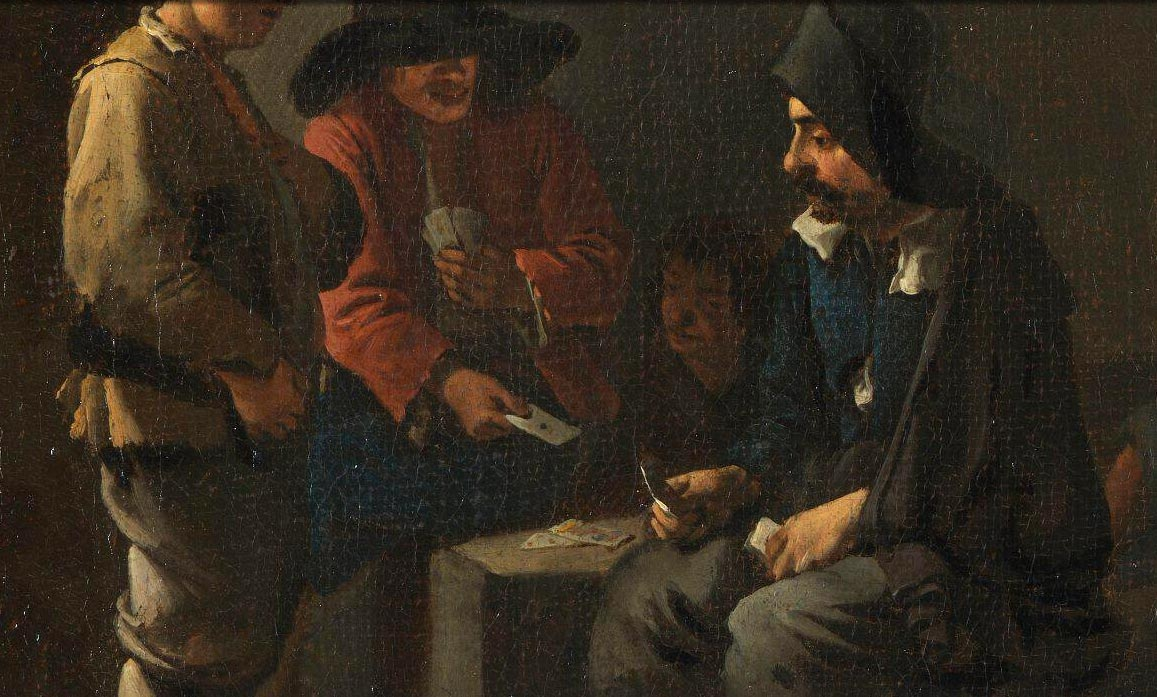 Street Scene with Card Players