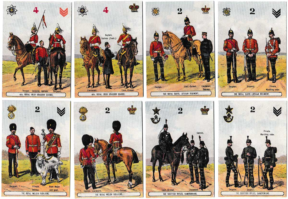 On Guard military card game published by J. Jaques & Son, c.1880