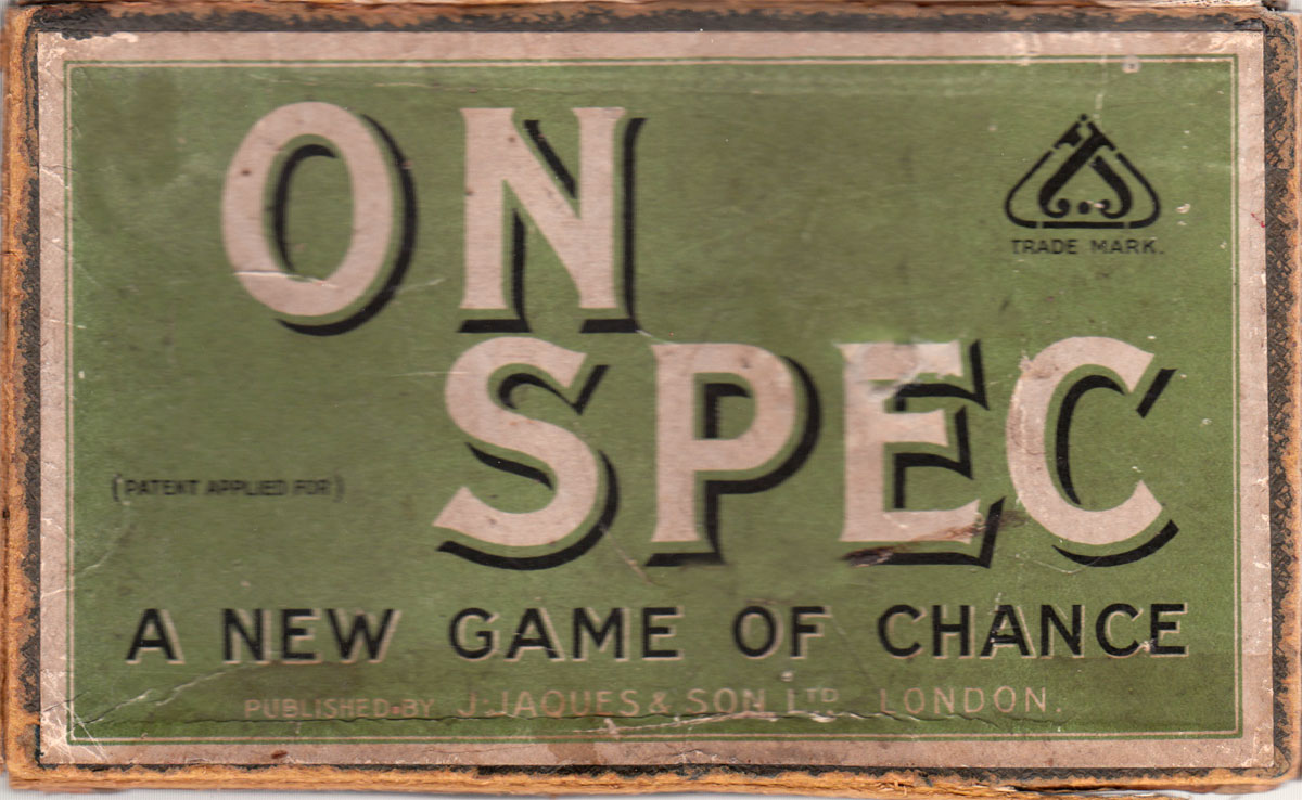 """On Spec"" published by John Jaques & Son, c.1920"