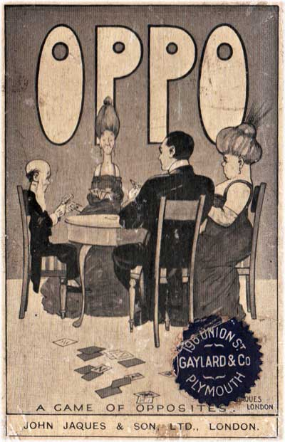 Oppo, a game of opposites, published by J. Jaques & Son, Ltd, c.1920s