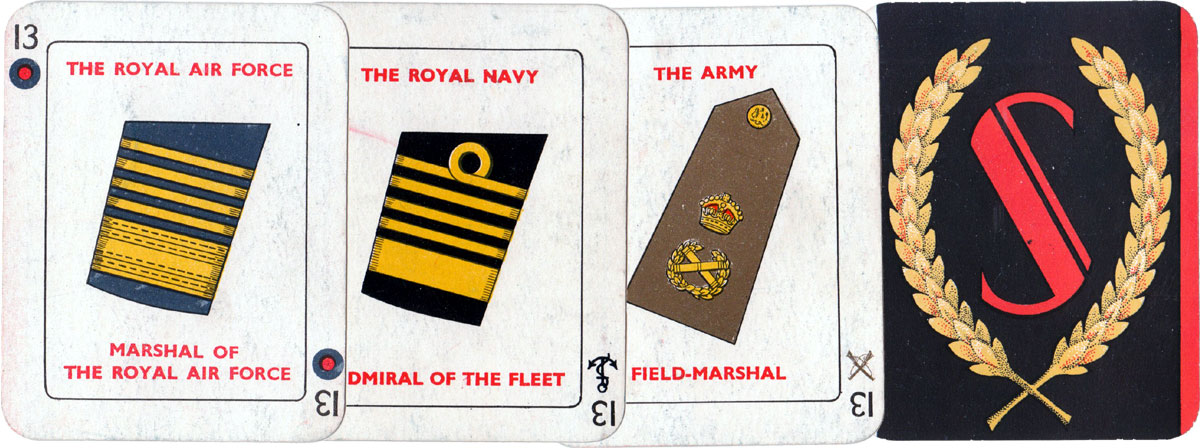 Salute! The Four Services promotion game by John Jaques & Son Ltd, London, c.1930s