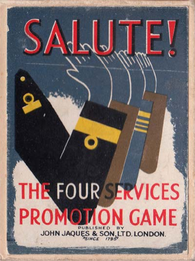 Salute! The Four Services promotion game by John Jaques & Son Ltd, London, c.1940