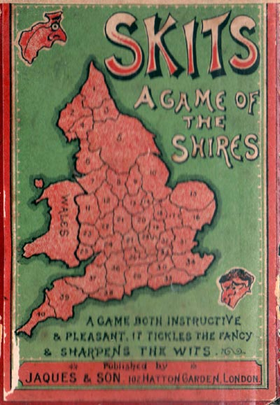 Skits card game published by Jaques & Son, c.1900