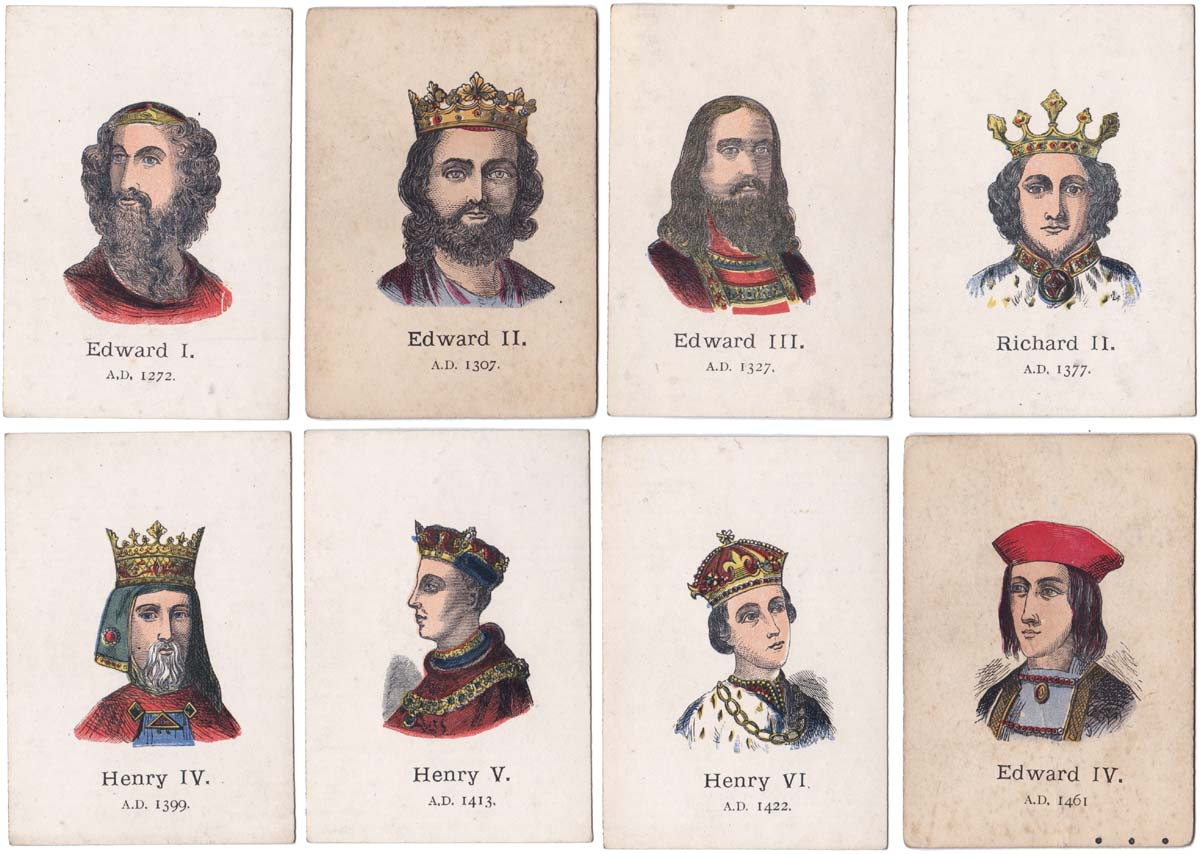 Sovereigns of England card game, Jaques & Son Ltd c.1895