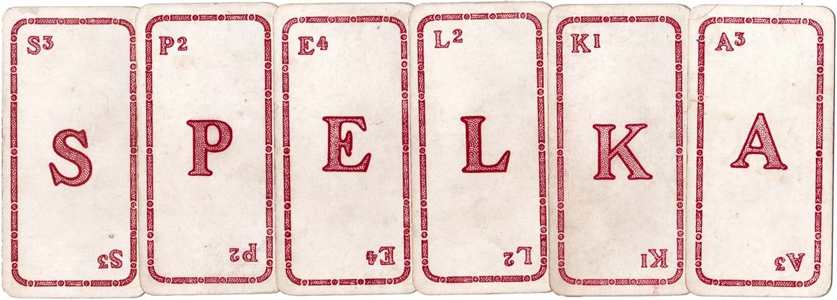Spelka, a word game published by John Jaques & Son Ltd, c.1908