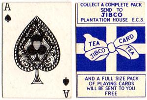 miniature insert card for Jibco tea