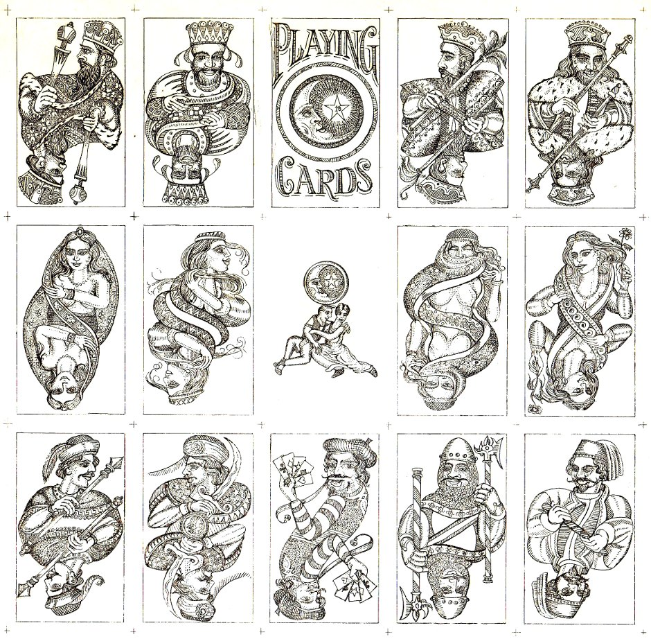 Karl Gerich no.19: unpublished playing card designs