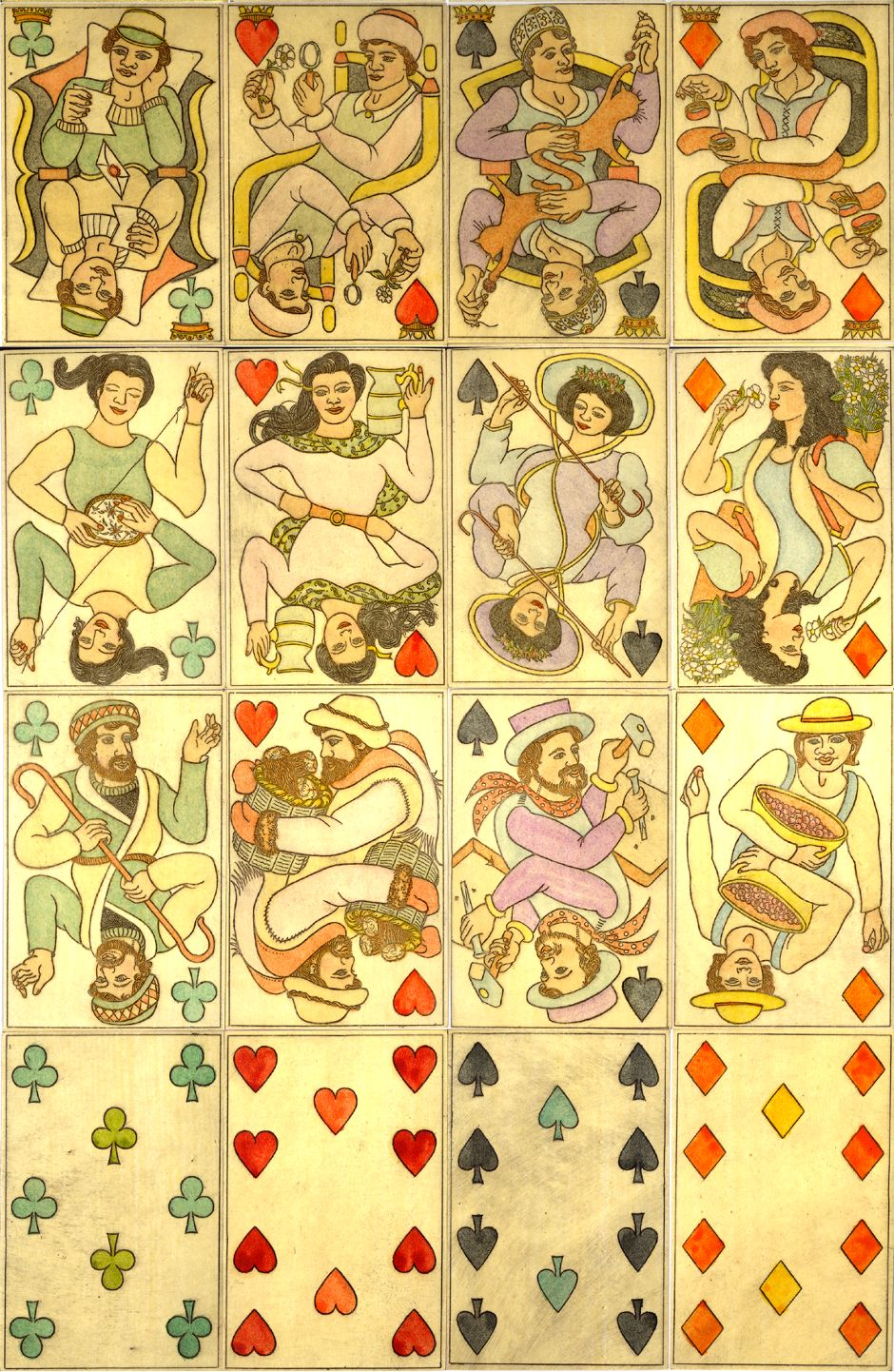 """Victoria Playing Cards"" designed by Georgina Harvey and produced by Karl Gerich, Bath (UK), 1988"