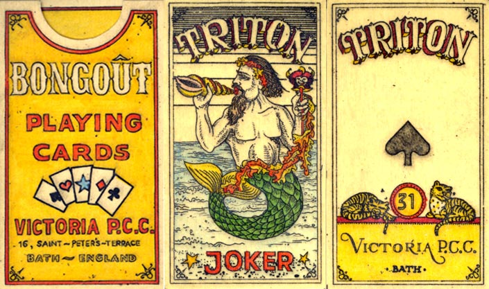 """Title cards & Joker from Karl Gerich's """"No.31: Triton"""", 1989"""