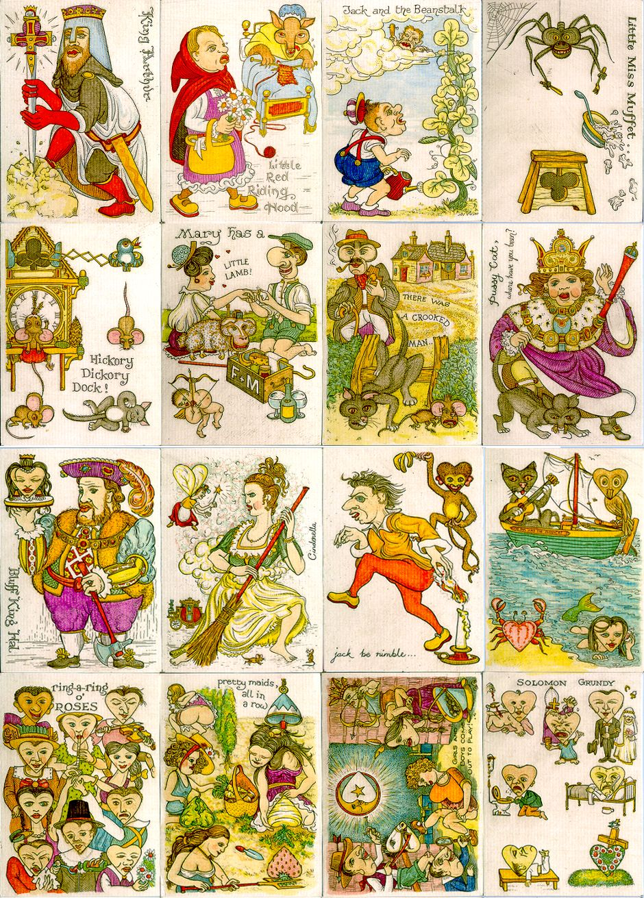 The English Playing Card Society 10th Anniversary Transformation Playing Cards designed and produced by Karl Gerich, 1993