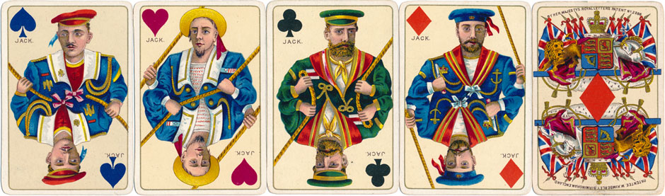 Kimberley's Royal National Patriotic playing cards, first edition c.1892-3