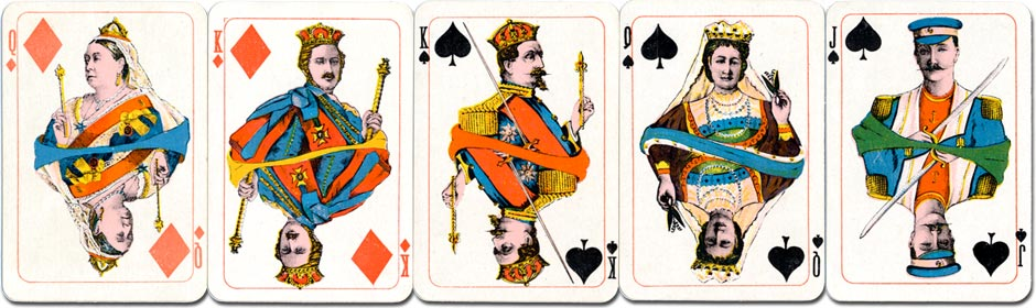 Kimberley's Royal National Patriotic playing cards, c.1902