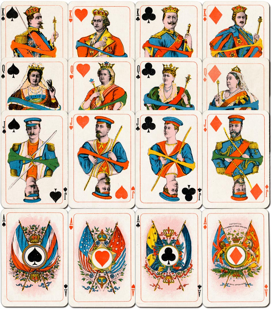 Kimberley's Royal National Patriotic playing cards from an edition of c.1902