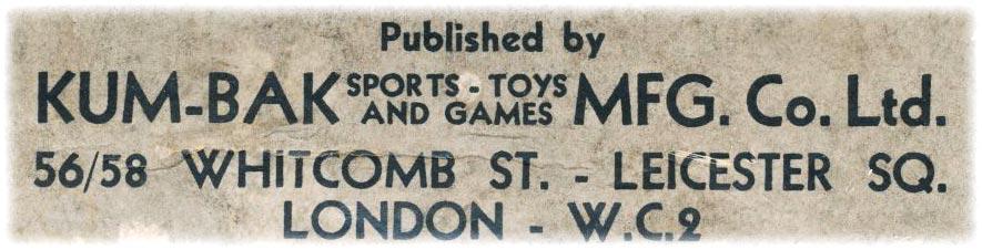 Kum-Bak address label c.1930