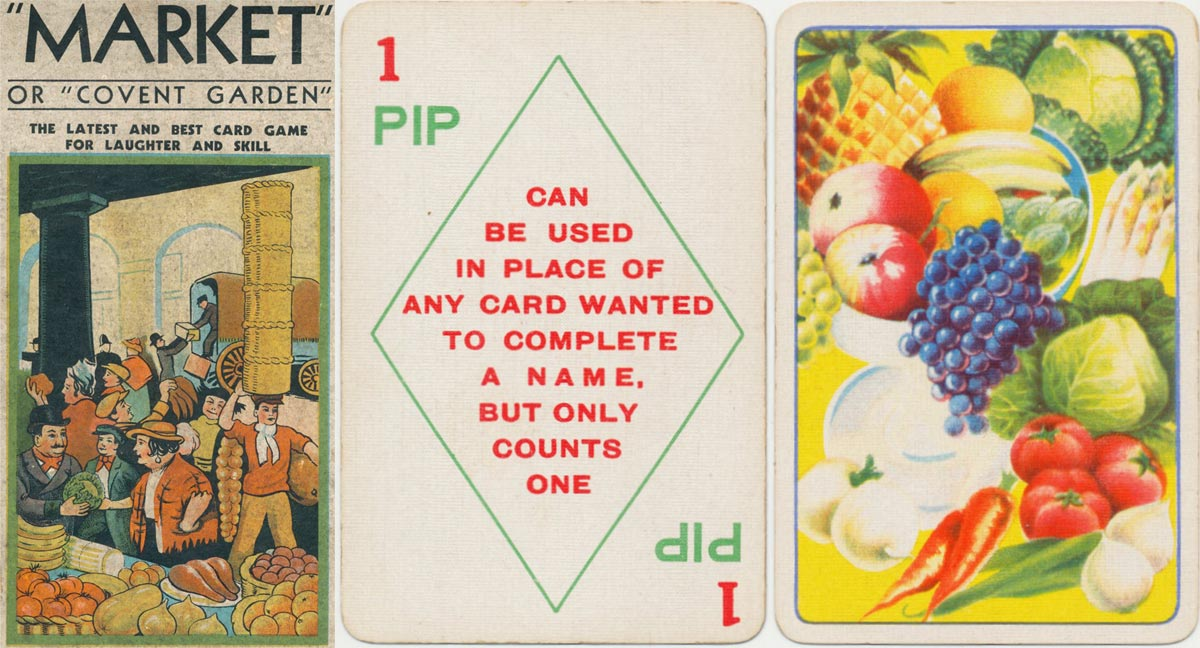 """Market"" or ""Covent Garden"" game published by Kum-Bak in the 1930s"