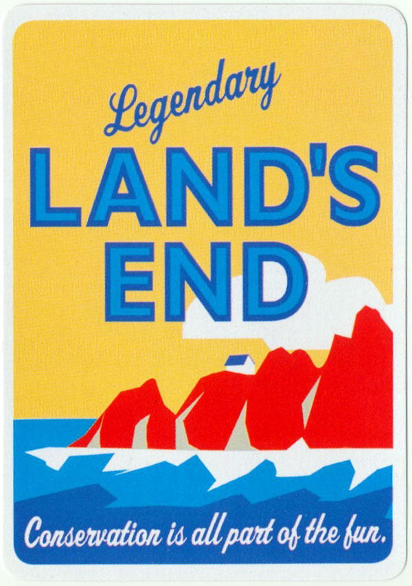 """Legendary Land's End"" deck by John Hinde"