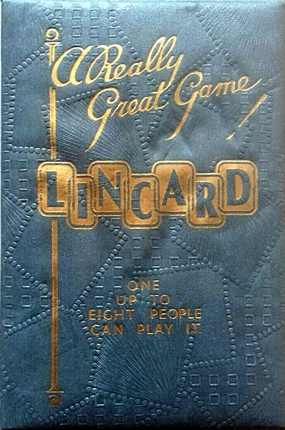 """Lincard"" card game invented by John William Wolf and patented in 1937"