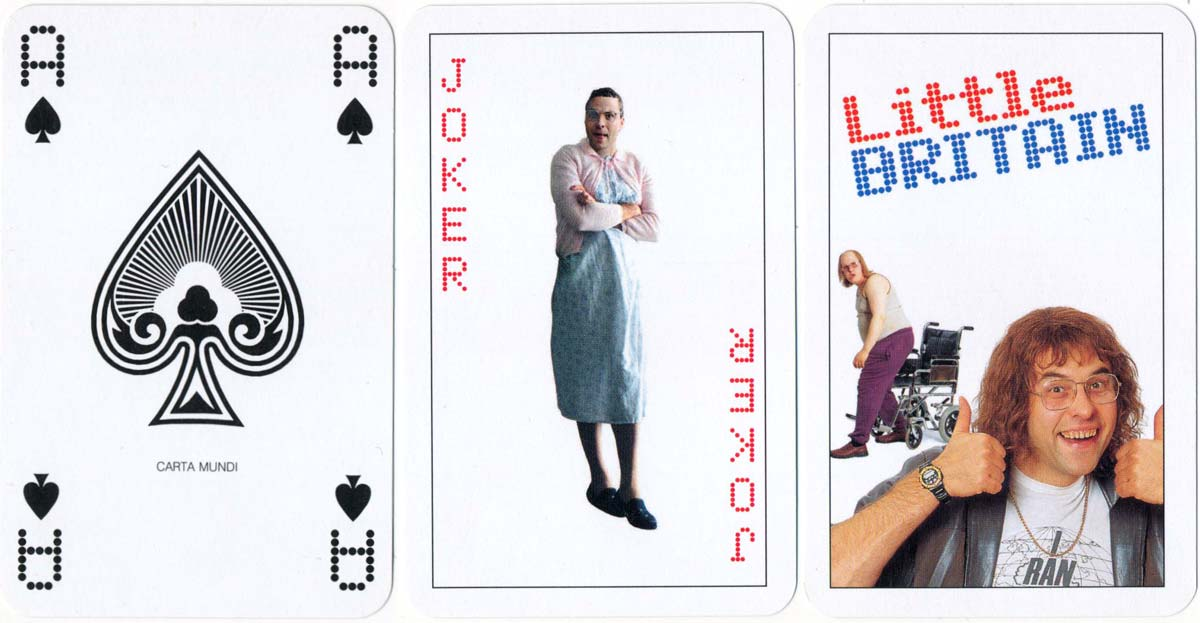 """Little Britain"" fan deck published by the BBC in 2005"
