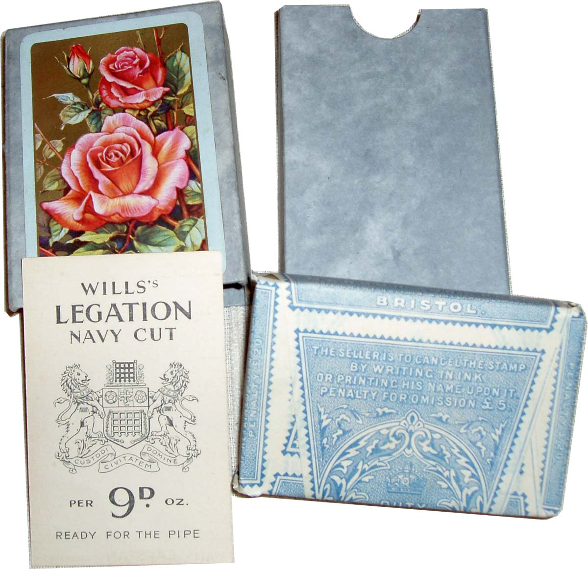 De Luxe playing cards printed by Mardon, Son & Hall for the Wills gift scheme in tax wrapper, 1930s